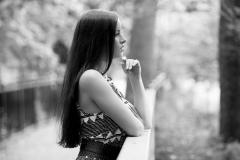 Windsor Portrait Photographer - Black and White Portrait - Krysta
