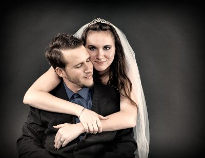 Bride & Groom - Formal Studio Portrait