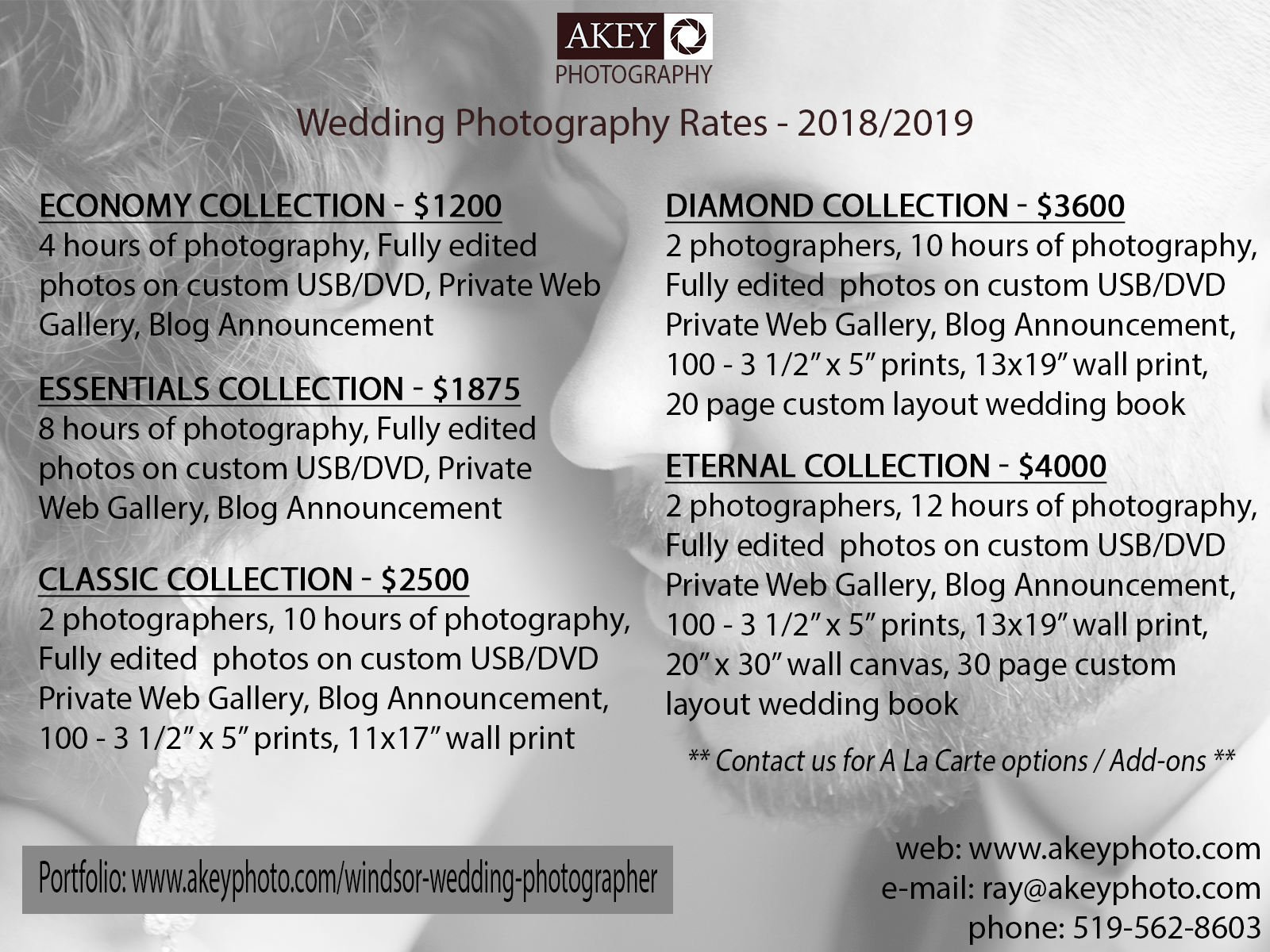 Windsor Wedding Photographer | 2018-2019 Rates